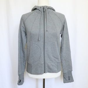 Athleta Gray Full Zip Hoodie Jacket Small